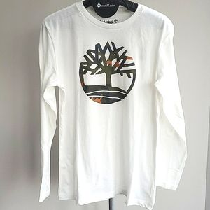 Boy's Timberland Logo Longsleeve Shirt